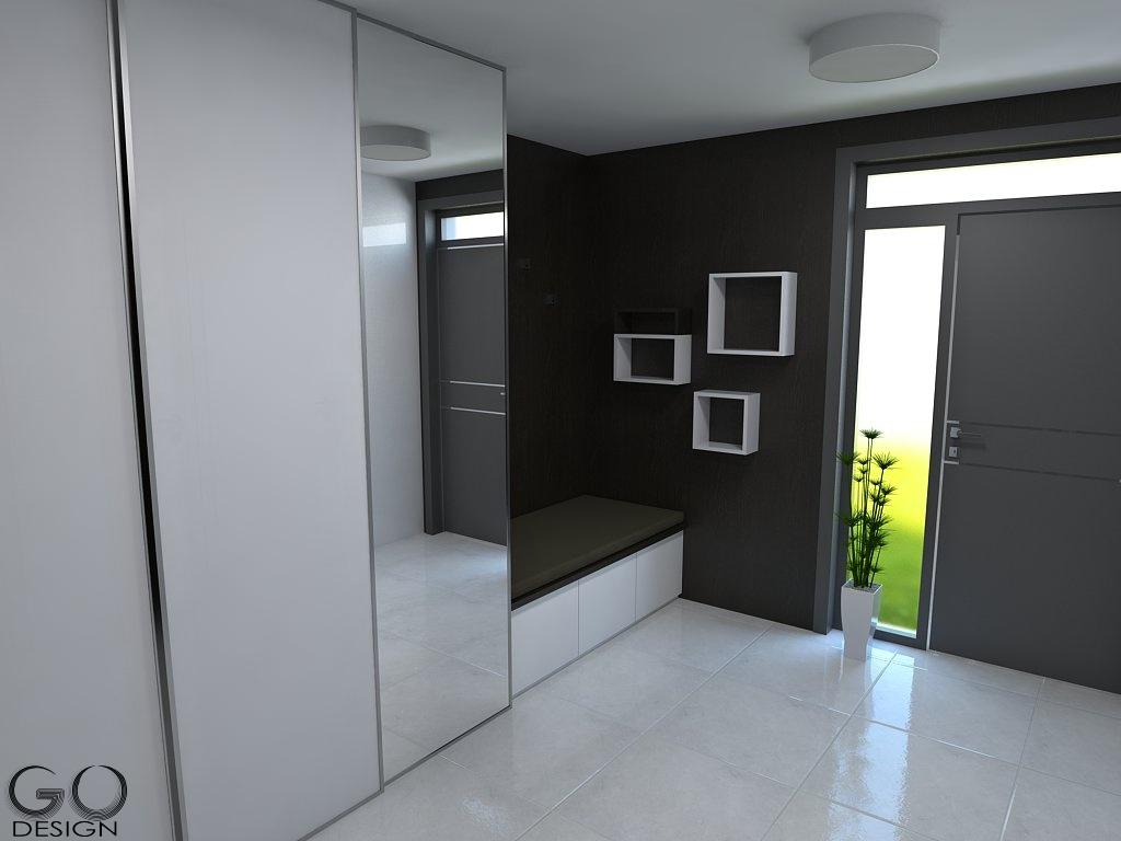 Návrh rodinného domu v Galante - Majitelia staršieho rodinného domu sa rozhodli pre jeho kompletnú rekonštrukciu. Exteriér a interiér sa bude niesť v kontraste bielej a tmavej farby