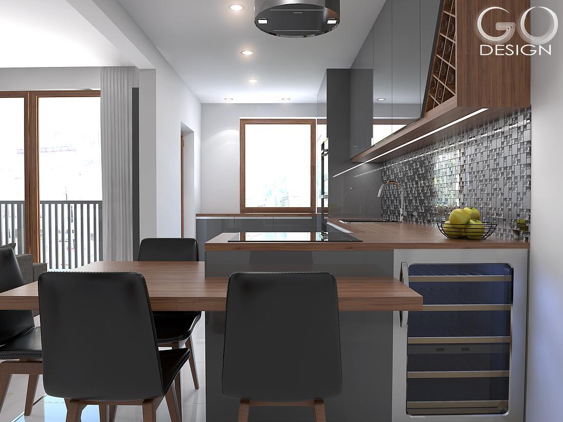 """Návrh priestorov """"pánskeho"""" bytu v Košiciach - Obrázok č. 3"""