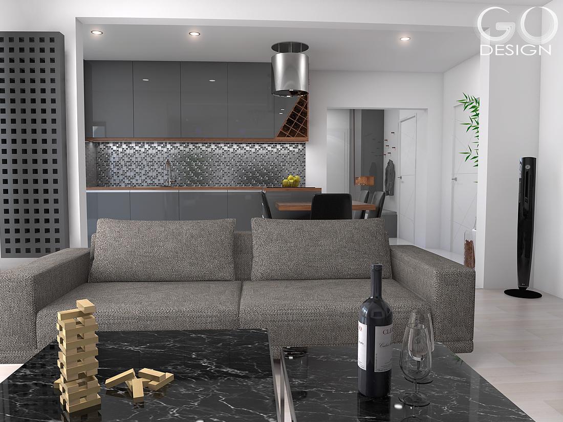 """Návrh priestorov """"pánskeho"""" bytu v Košiciach - Obrázok č. 6"""