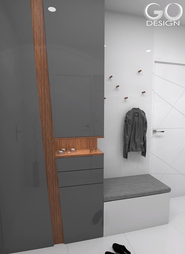 """Návrh priestorov """"pánskeho"""" bytu v Košiciach - Obrázok č. 2"""
