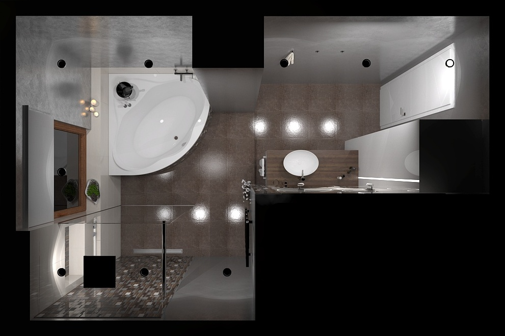 """Návrh priestorov """"pánskeho"""" bytu v Košiciach - Obrázok č. 9"""