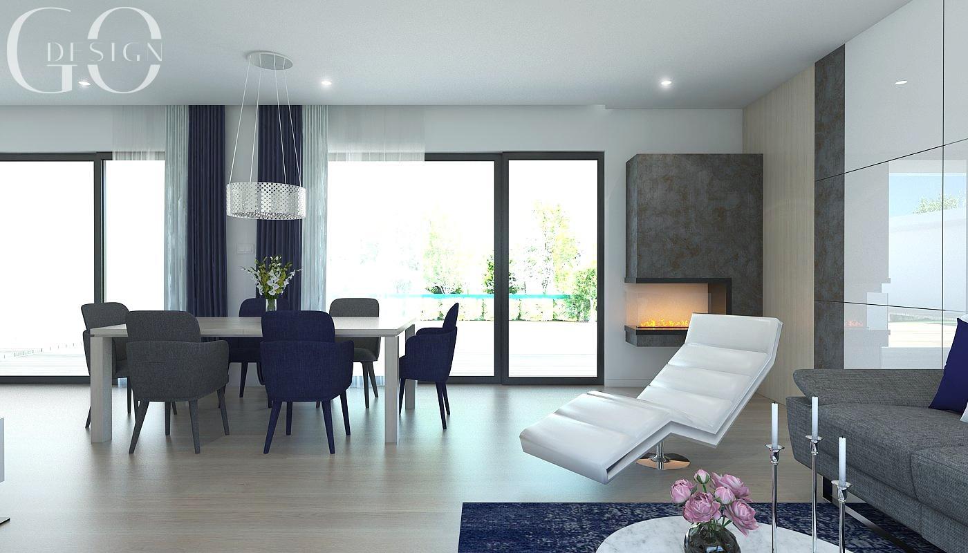 Návrh moderného domu s modrými akcentmi - Obrázok č. 4
