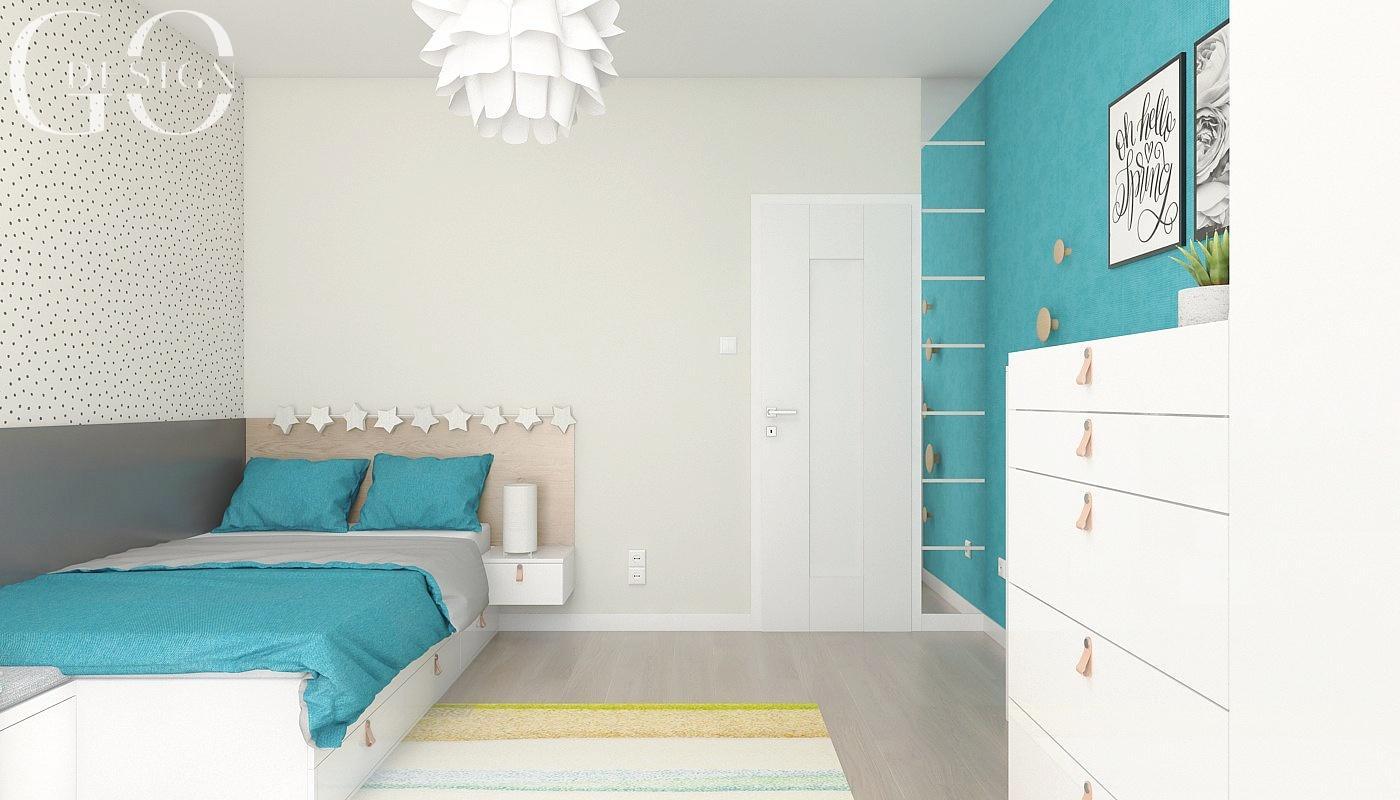 Návrh moderného domu s modrými akcentmi - Obrázok č. 13