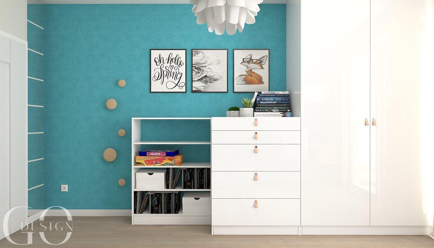 Návrh moderného domu s modrými akcentmi - Obrázok č. 14