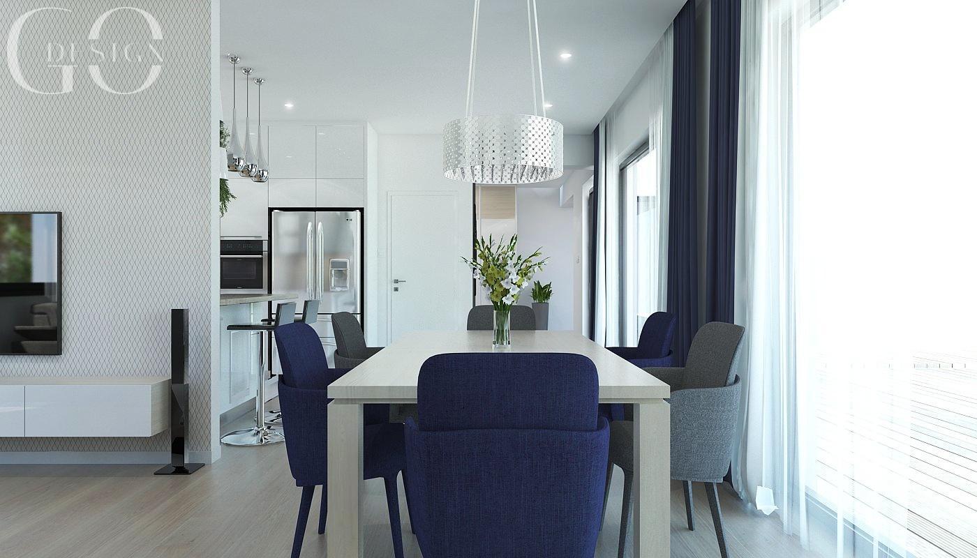 Návrh moderného domu s modrými akcentmi - Obrázok č. 5