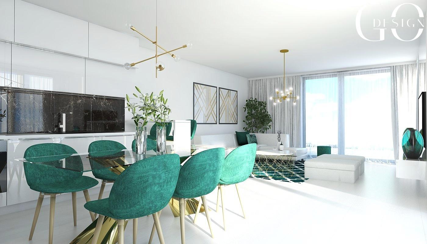Návrh bytu v štýle glamour a art déco - Rezidencia Nová Koliba, Bratislava - Obrázok č. 1