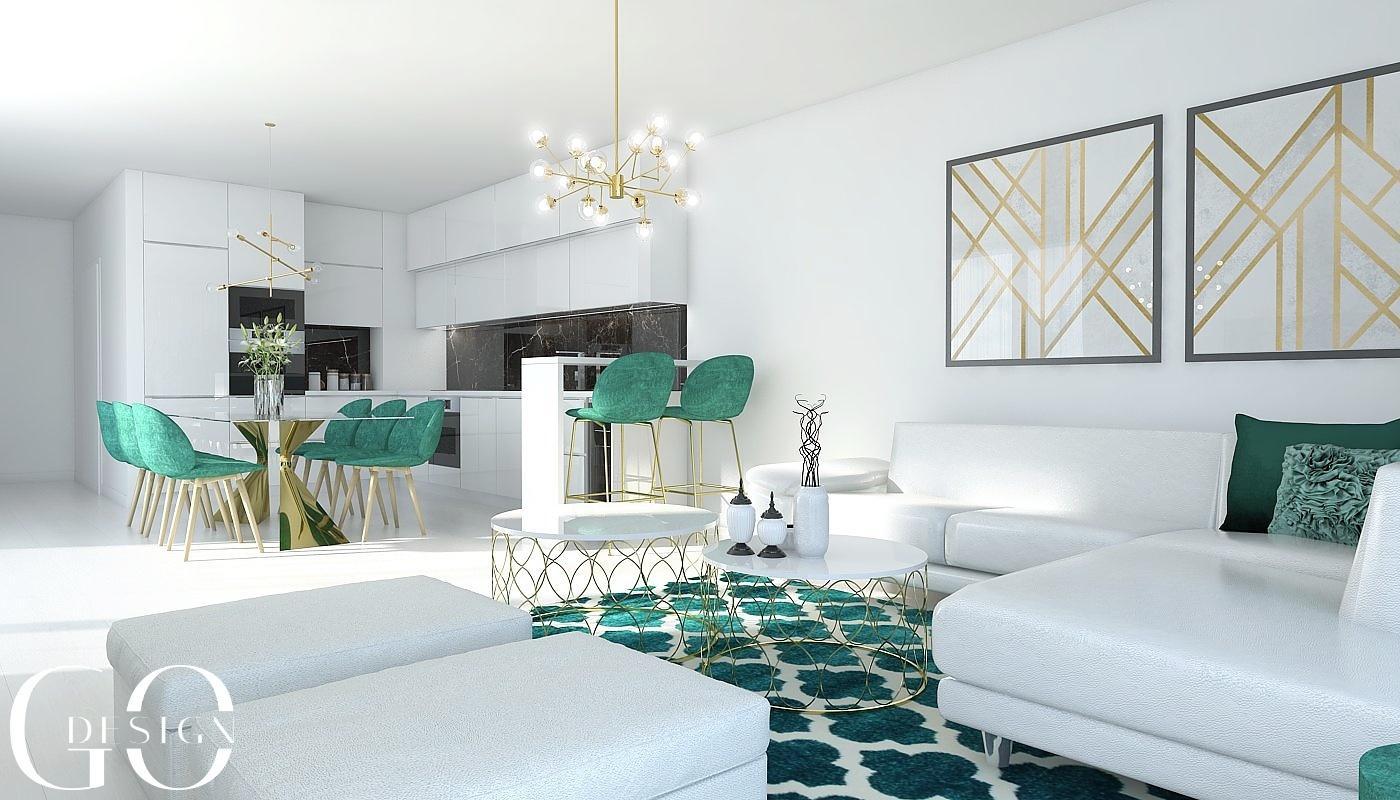 Návrh bytu v štýle glamour a art déco - Rezidencia Nová Koliba, Bratislava - Obrázok č. 5