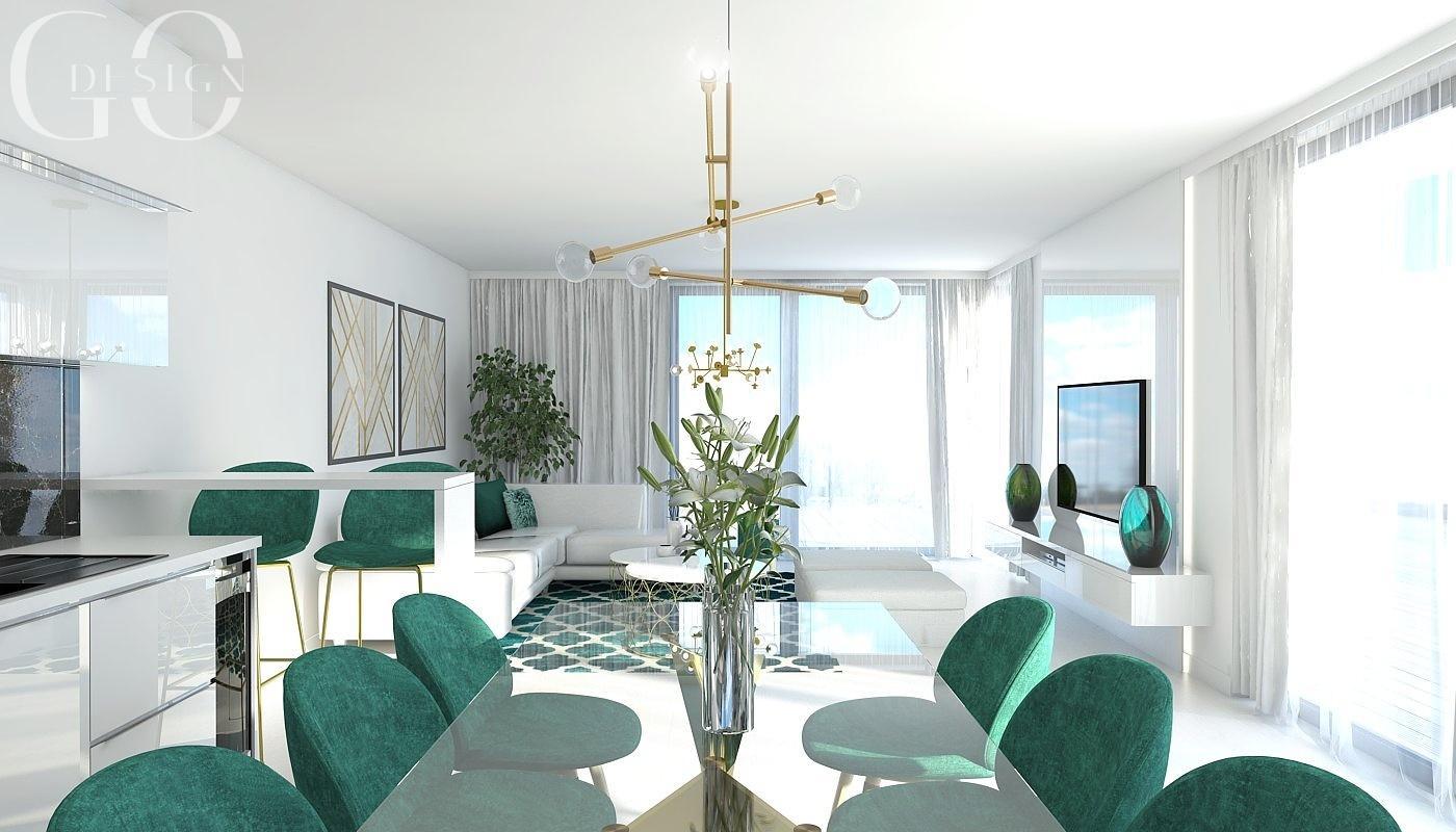 Návrh bytu v štýle glamour a art déco - Rezidencia Nová Koliba, Bratislava - Obrázok č. 3