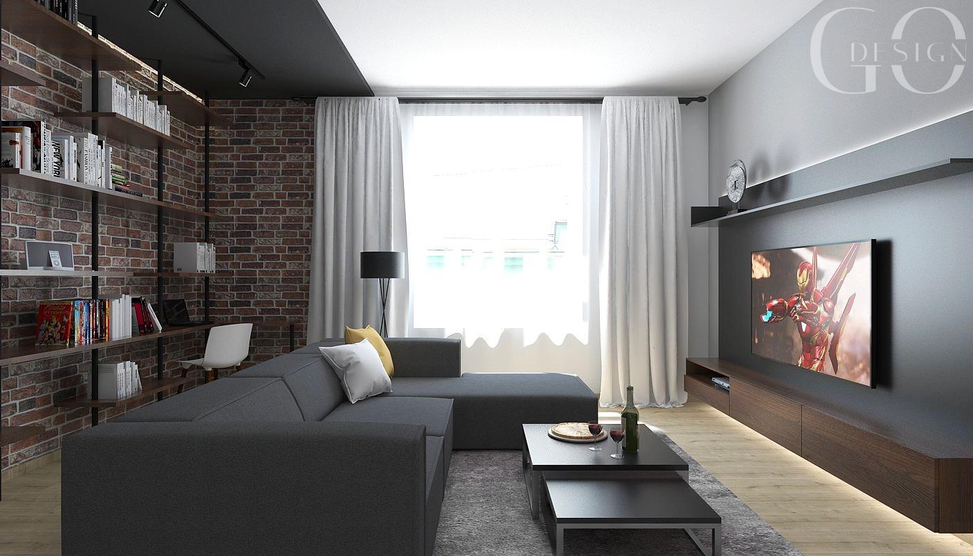 Návrh staromestského bytu v loftovom štýle - Rožňava - Obrázok č. 5