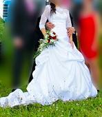 Svatební šaty+ 2x spodnice SLEVA, 38