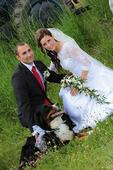 Svatební šaty 36,i s závoji a 2xspodnice, 36
