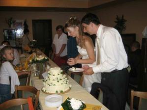 krájení dortíku
