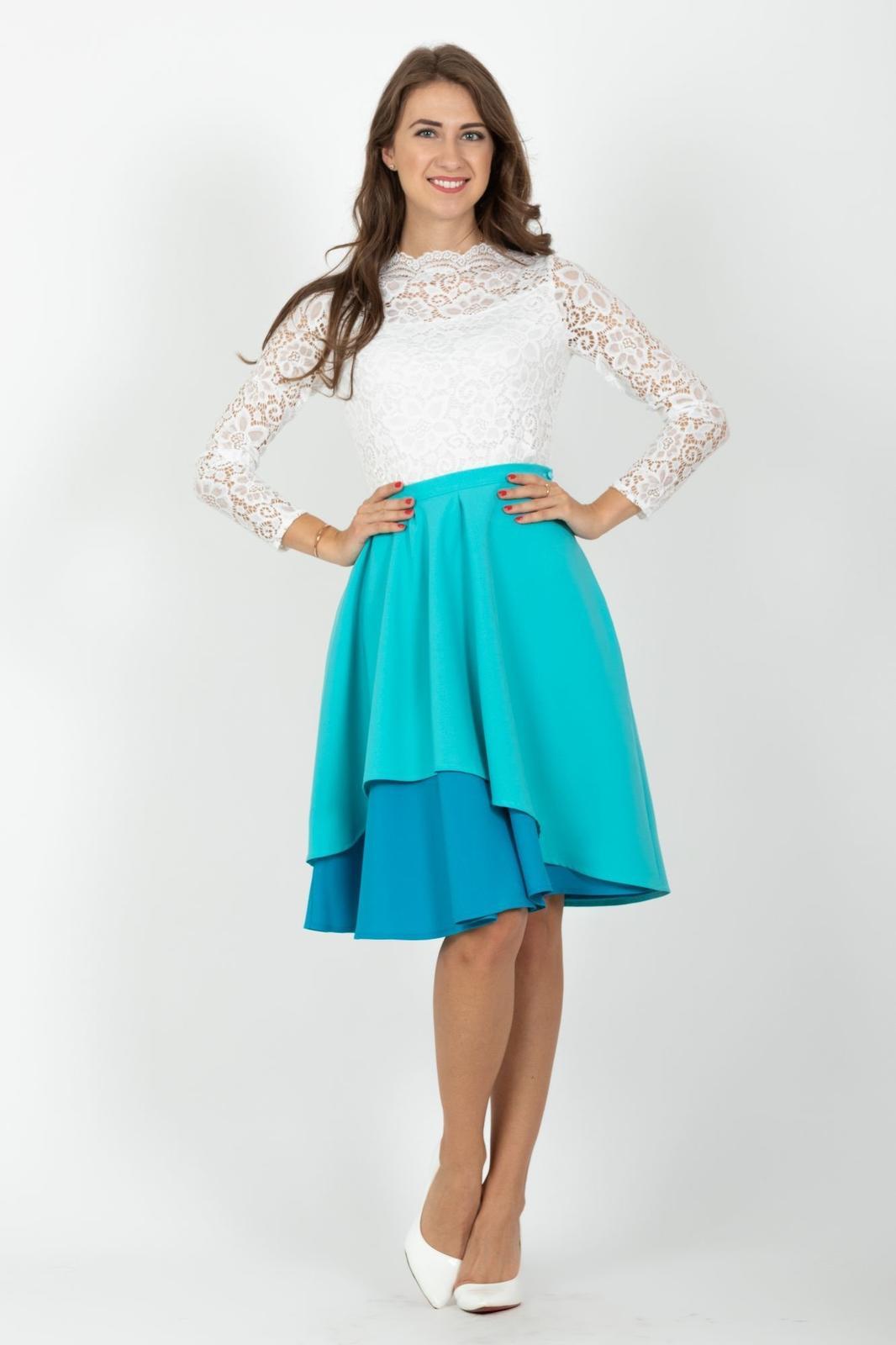 Sukně Vodopádka - ženská, jemná, nadčasová - POSHme - sukně Vodopádka