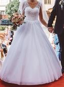 Nadherné romantické šaty s odhaleným chrbátikom, 36