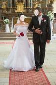 Svatební šaty bílé, vel. 38 - 40, 38