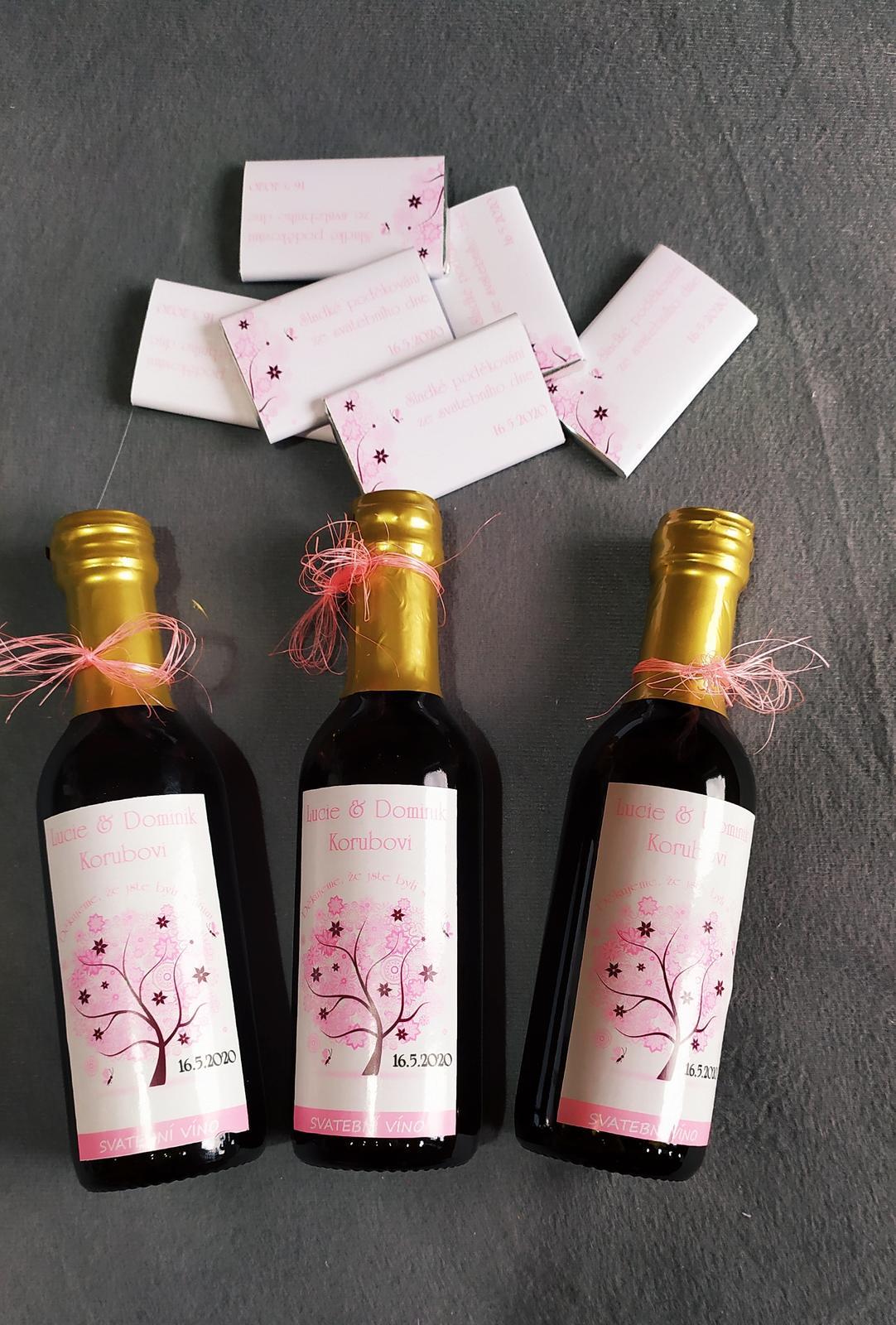 12.9.2020 ☺️ - Dárečky pro hosty...minivína a belgické čokoládky ☺️
