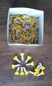Dřevěné mini kolíčky se srdíčkem - 25 mm,