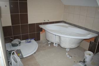 Dodělává se koupelna