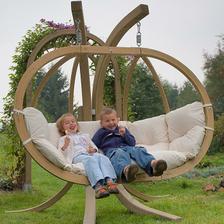 Zahradní závěsné křeslo GLOBO Royal set