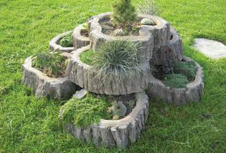 Květináče - napodobenina dřeva