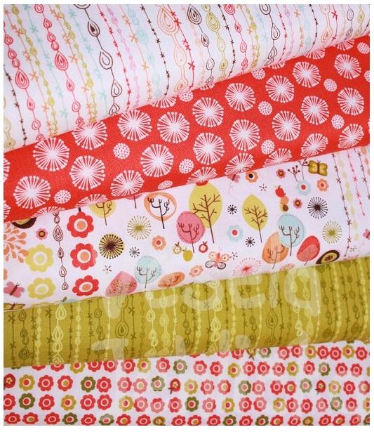 Dětský pokoj - naše inspirace - Na textilní doplňky - kolekce Flying Free od Anthology Fabrics