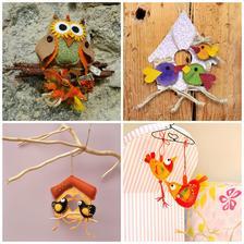 Ke stromu na stěně budou dekorace s motivem ptáčků (tyto jsou z Fleru od prodejce Krasohled)