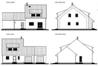 Dům bude stát štítovou stranou do ulice-kvůli orientaci pozemku ke světovým stranám
