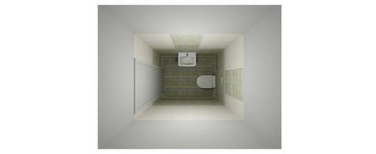 Vizualizace SIKO - dolní WC