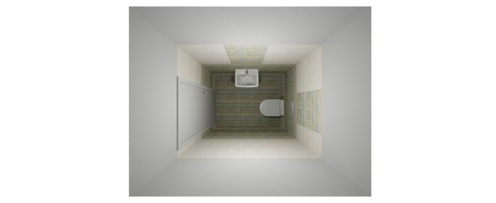 Koupelny - Vizualizace SIKO - dolní WC