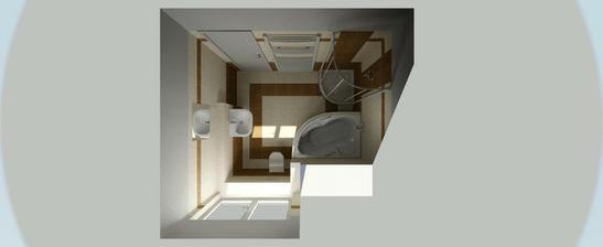 Vizualizace SIKO - horní koupelna