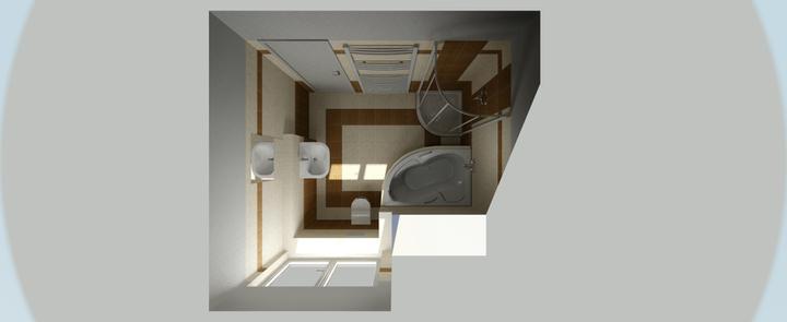 Koupelny - Vizualizace SIKO - horní koupelna