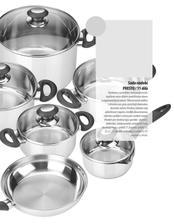11-dílná sada nádobí na indukci Tescoma Presto