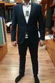 tmavomodrý svadobný oblek, 52