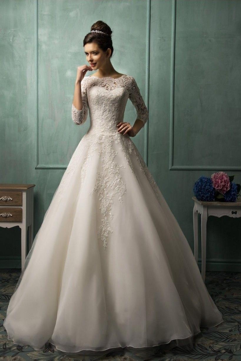 Nové svatební šaty vel. XS až S - Obrázek č. 1