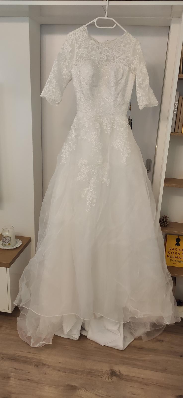 Nové svatební šaty vel. XS až S - Obrázek č. 3
