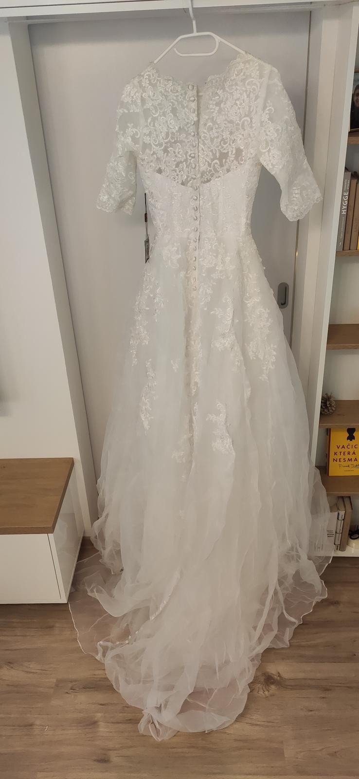 Nové svatební šaty vel. XS až S - Obrázek č. 4