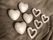 Polystyrenova srdce 10cm 8ks,