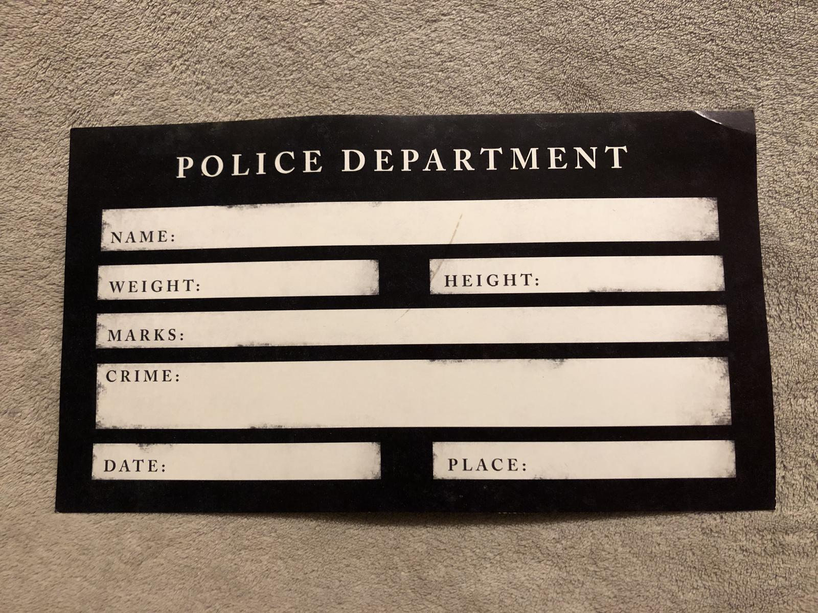 Cedule Police Department - Obrázek č. 1