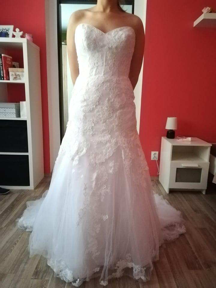 Svatební šaty 38(možná i menší 38) - Obrázek č. 1