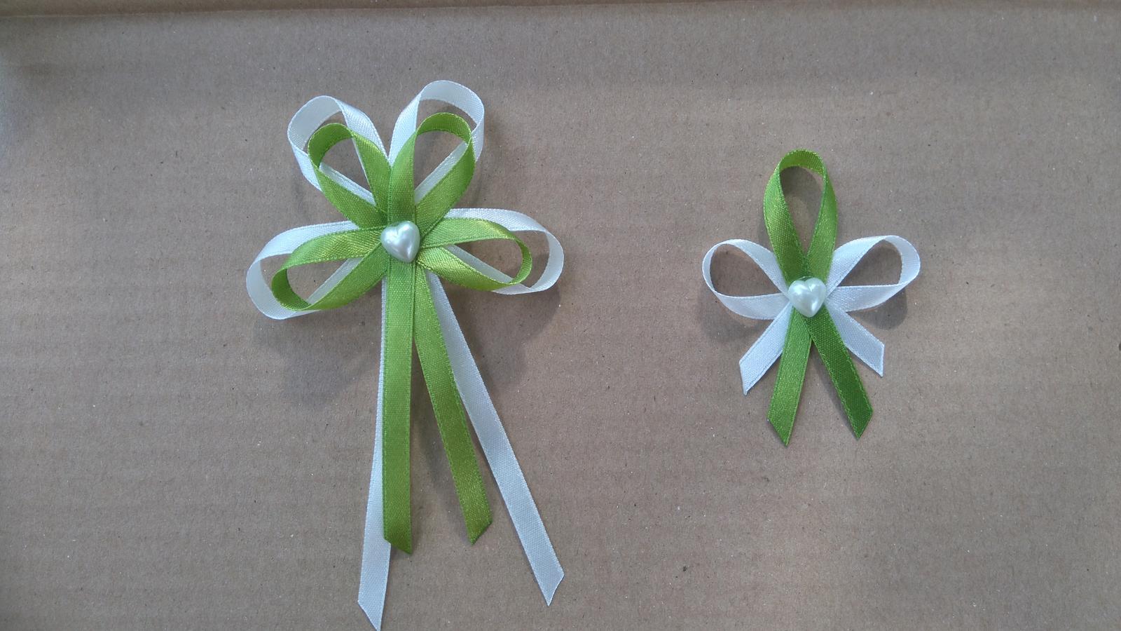 svadobne pierka olivovozelena a biela - Obrázok č. 1