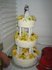 Svatební dort už je hotov :-)