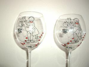 a svateb. skleničky v detailu