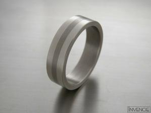 naše prstýnky (titan+bílé zlato)