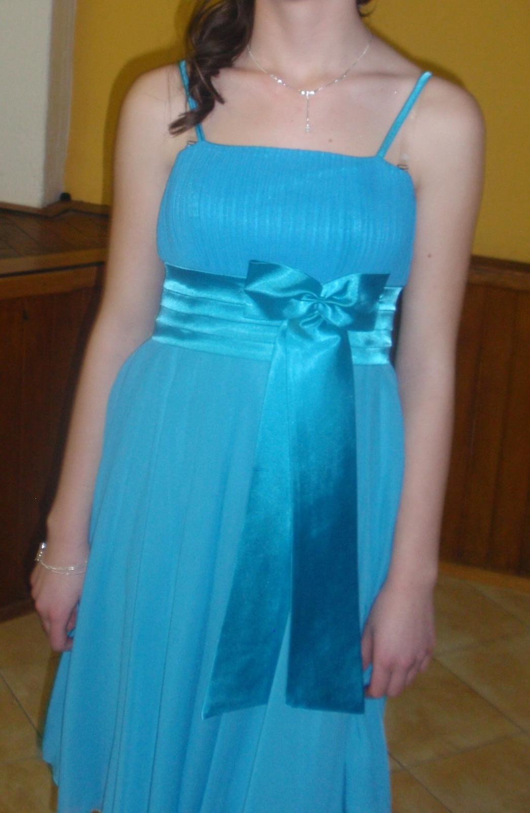 Tyrkysové šaty - Obrázok č. 1