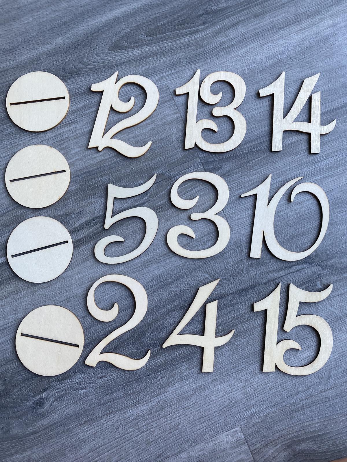 Čísla na stůl - Obrázek č. 1