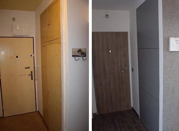 Before & After - skříň podle našeho návrhu :)