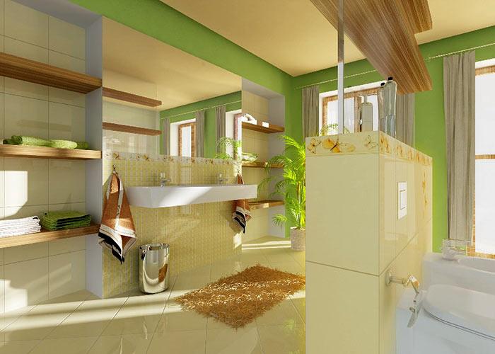 Kúpelne - veľmi sa mi páči,len kde také obklady zohnať :)