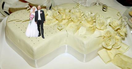 jedna zo svadobných tortičiek