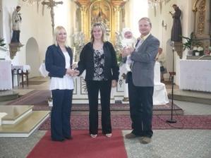 tady jsme křtili nejmladšího syna a tady bude svatební obřad