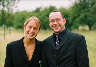 Nevěstina sestřenice Tezera (Bebna :-) a její německý přítel Maik :-)